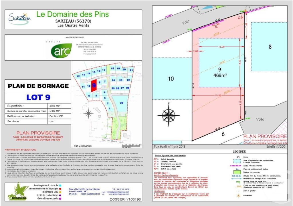 Terrains du constructeur C21 JEGO IMMO SARZEAU • 469 m² • SARZEAU