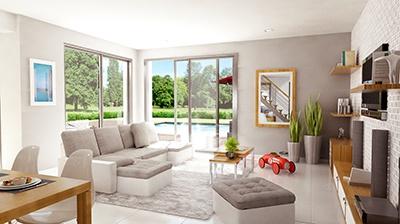 Maisons + Terrains du constructeur CASTOR MESNIL ESNARD • 100 m² • HOUPPEVILLE
