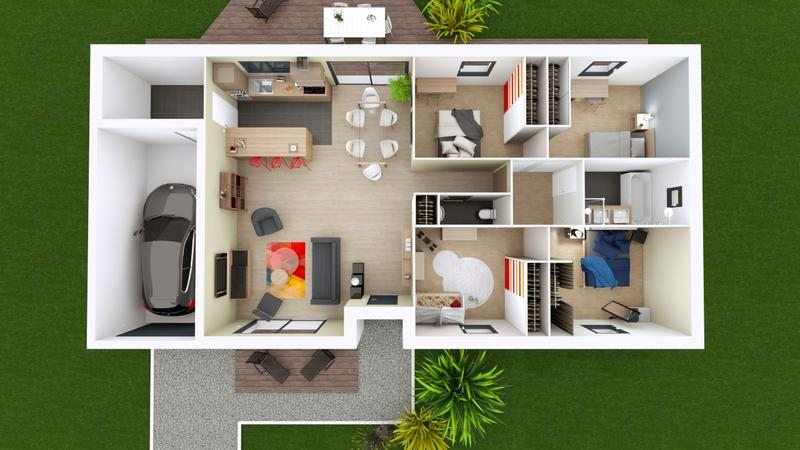 Maisons du constructeur MAISONS ELAN • 108 m² • DAVAYAT