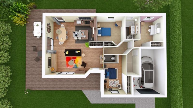 Maisons du constructeur MAISONS ELAN • 94 m² • BAS ET LEZAT