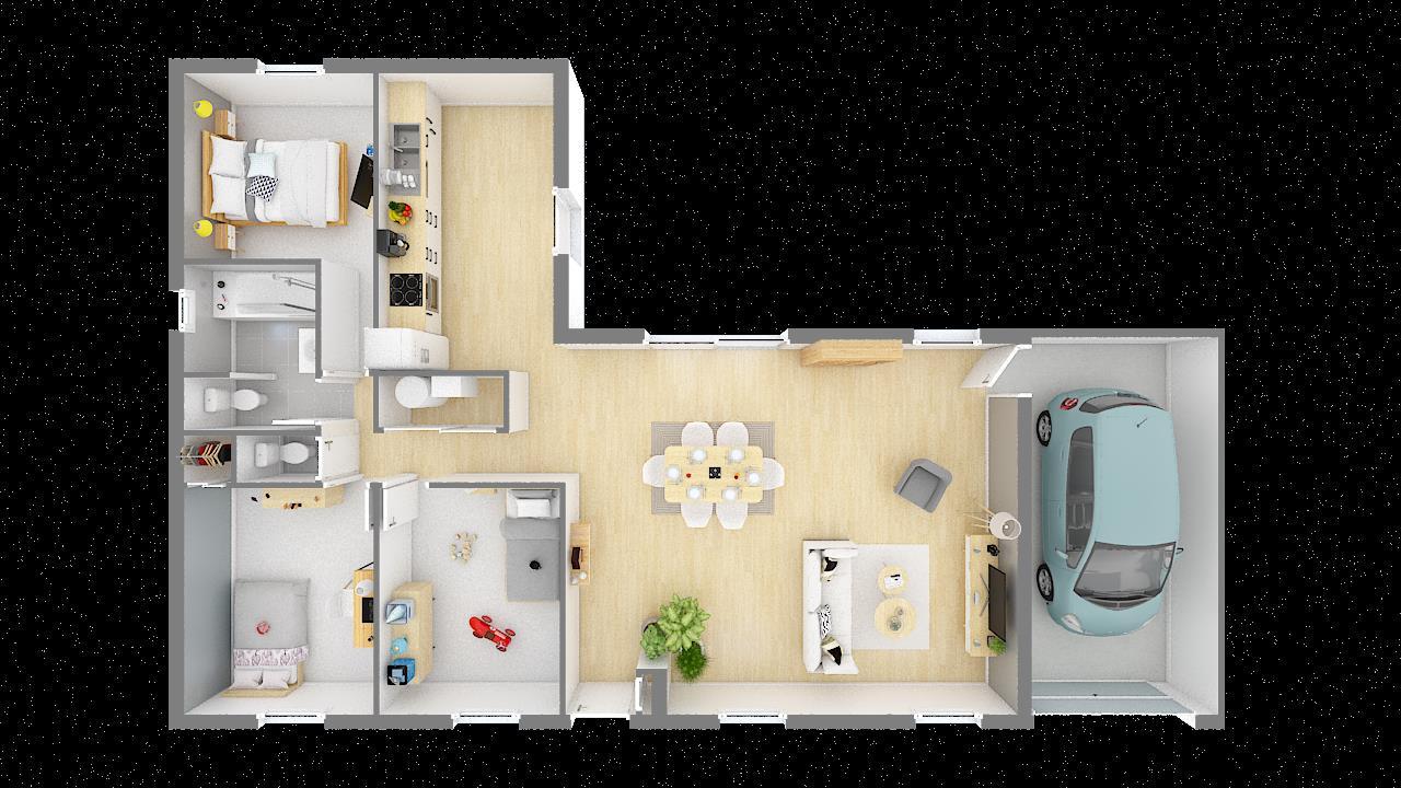 Maisons + Terrains du constructeur MAISON PHENIX • 97 m² • VILLEFRANCHE DE LAURAGAIS