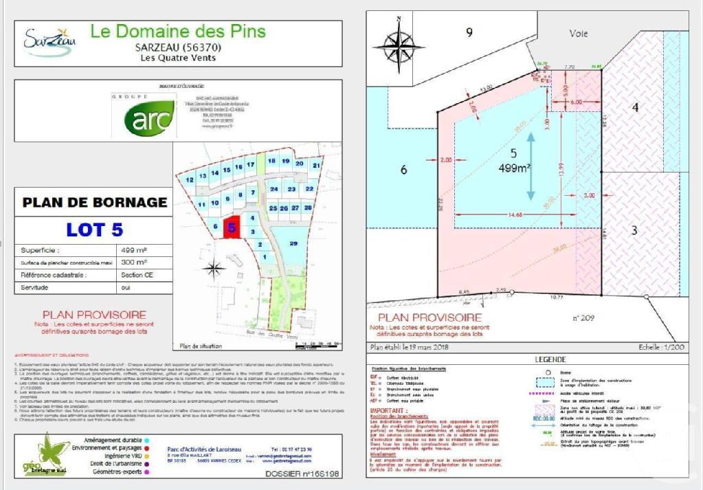 Terrains du constructeur C21 JEGO IMMO SARZEAU • 499 m² • SARZEAU