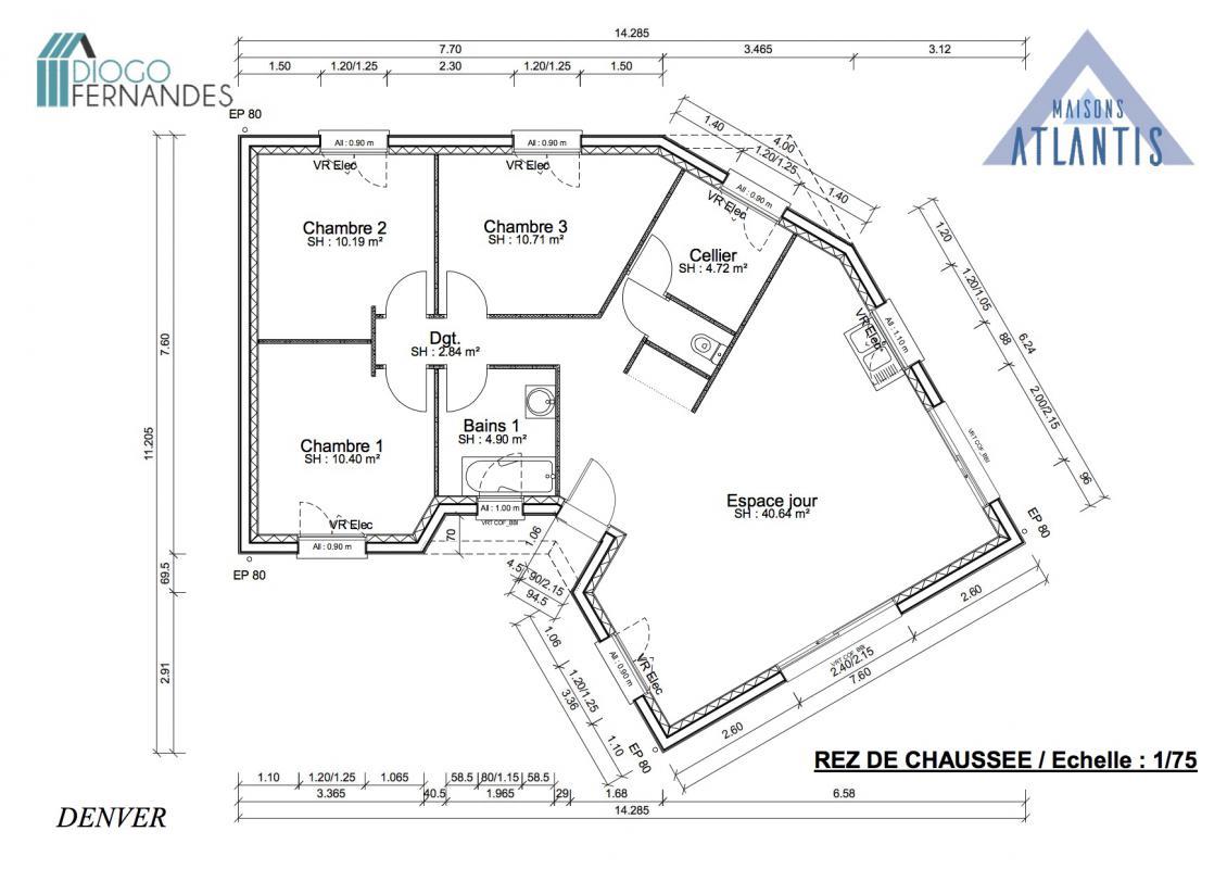 Maisons + Terrains du constructeur GROUPE DIOGO FERNANDES • 85 m² • PIERRES