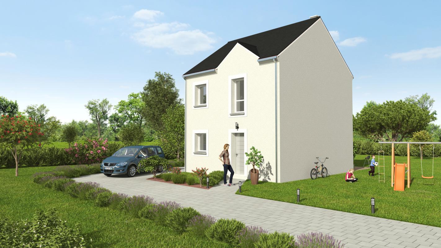 Maisons + Terrains du constructeur GROUPE DIOGO FERNANDES • 77 m² • CHARTRES