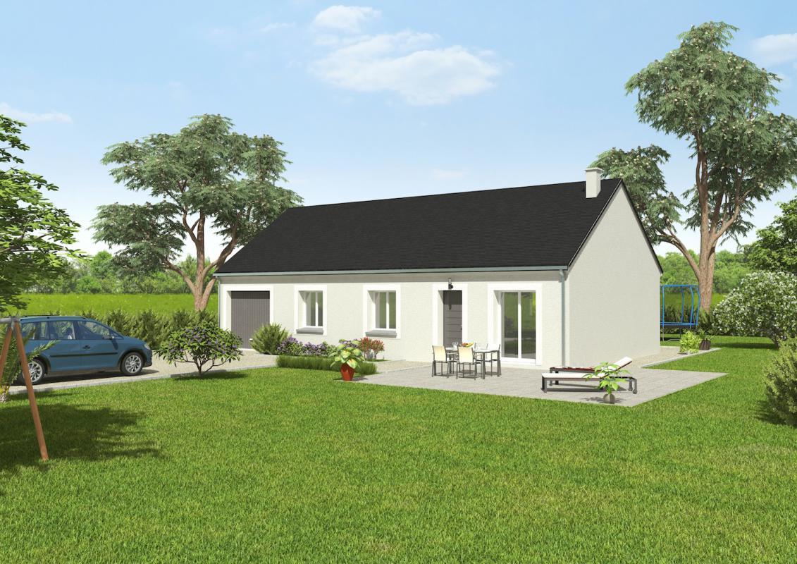 Maisons + Terrains du constructeur GROUPE DIOGO FERNANDES • 76 m² • AUNAY SOUS CRECY