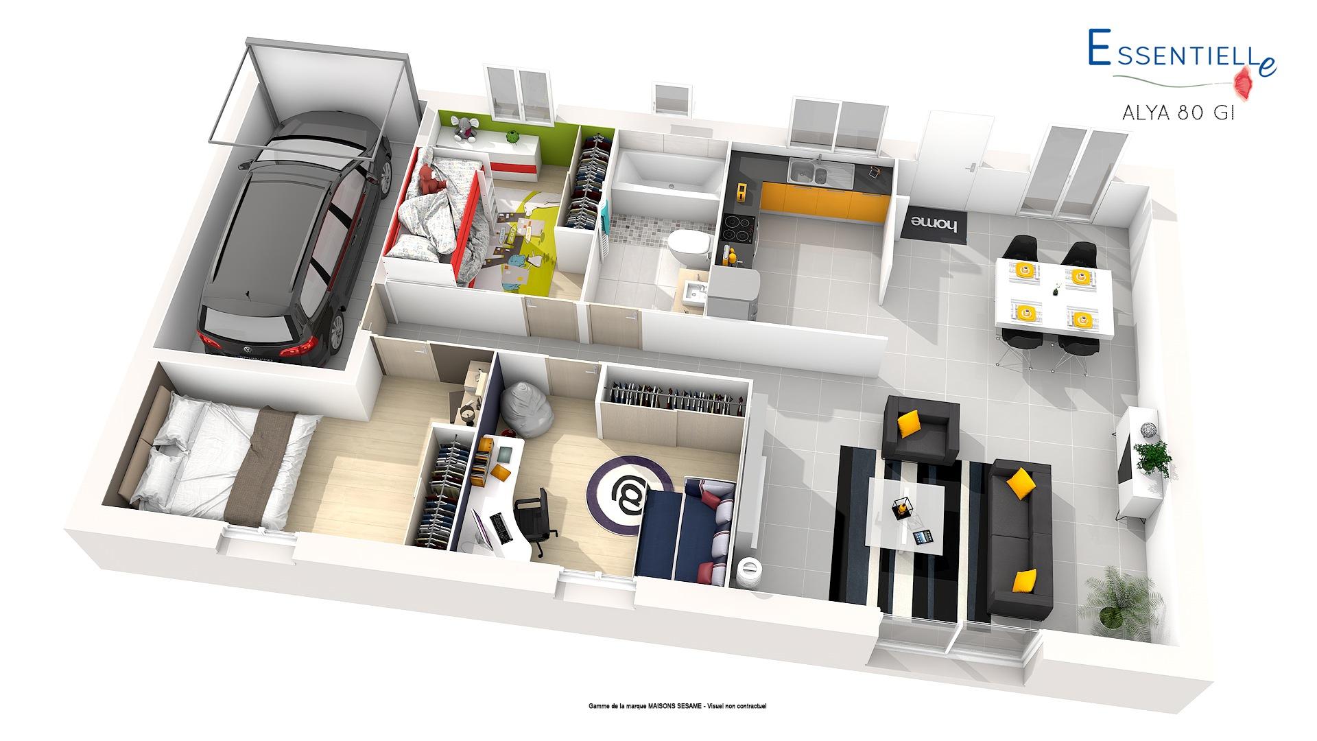Maisons + Terrains du constructeur COFIDIM MAISONS SESAME • 100 m² • SAVIGNY SUR ORGE