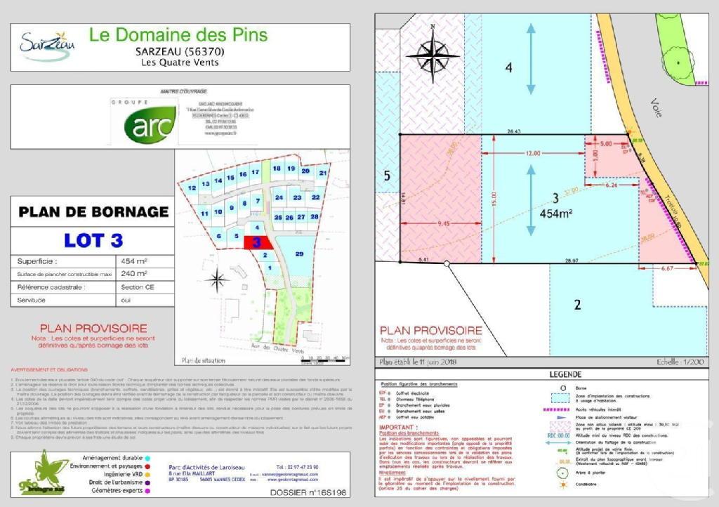 Terrains du constructeur C21 JEGO IMMO SARZEAU • 454 m² • SARZEAU