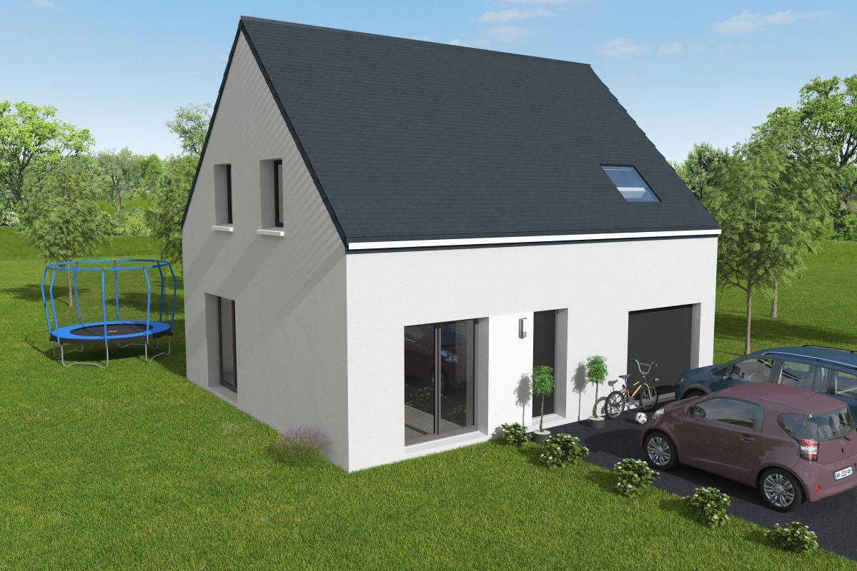 Maisons + Terrains du constructeur LES MAISONS KERBEA • 90 m² • LITTEAU