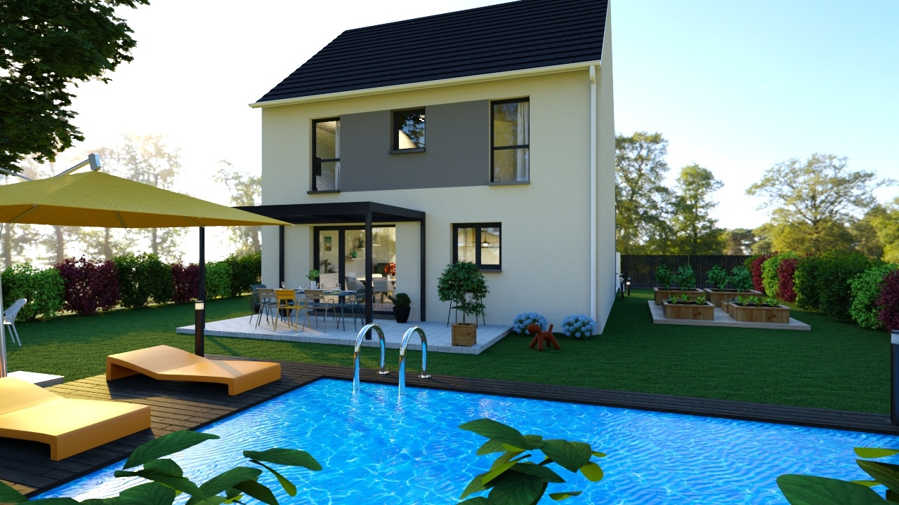 Maisons + Terrains du constructeur MAISONS LOGELIS • 90 m² • ETRECHY