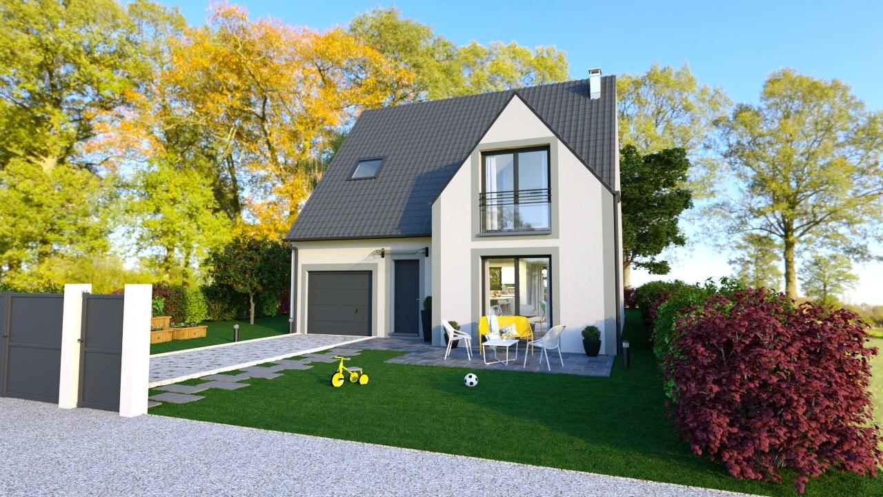 Maisons + Terrains du constructeur MAISONS LOGELIS • 96 m² • LEUDEVILLE