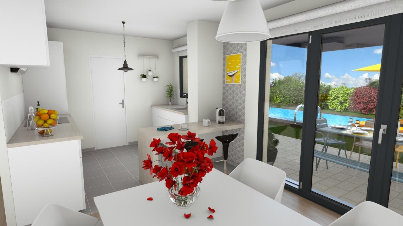 Maisons + Terrains du constructeur MAISONS LOGELIS • 90 m² • OLLAINVILLE