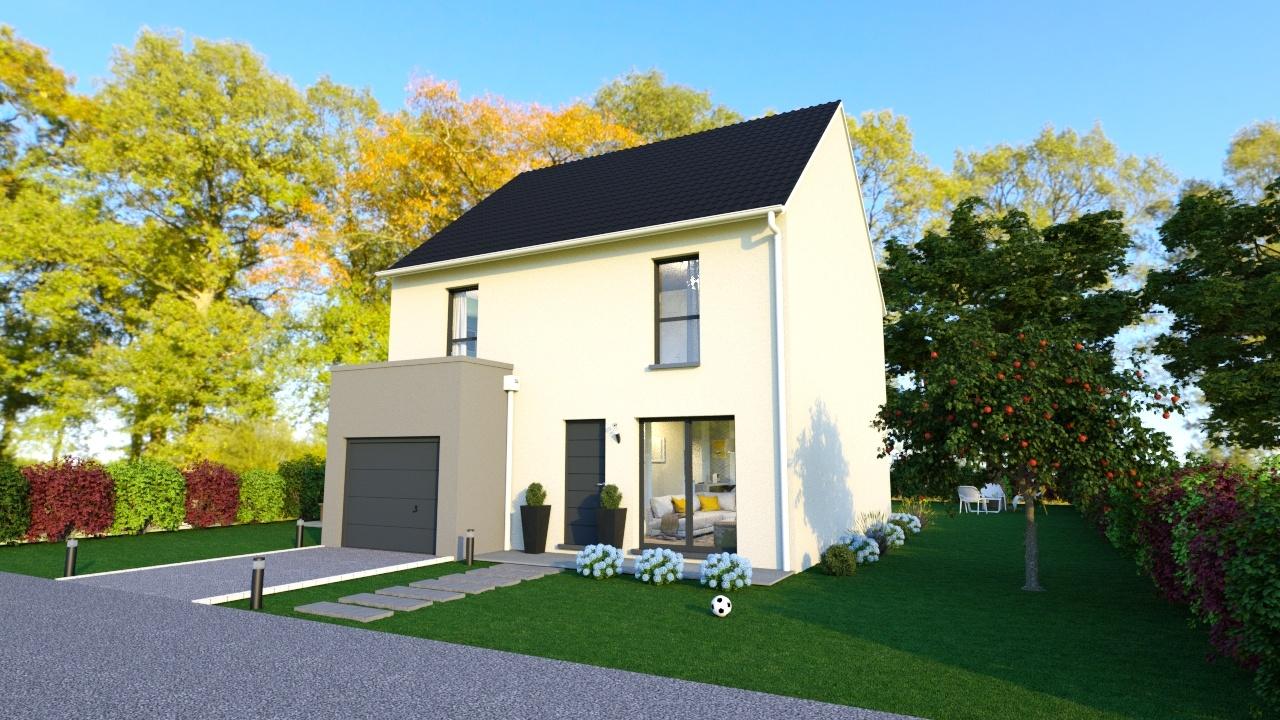 Maisons + Terrains du constructeur MAISONS LOGELIS • 83 m² • EGLY