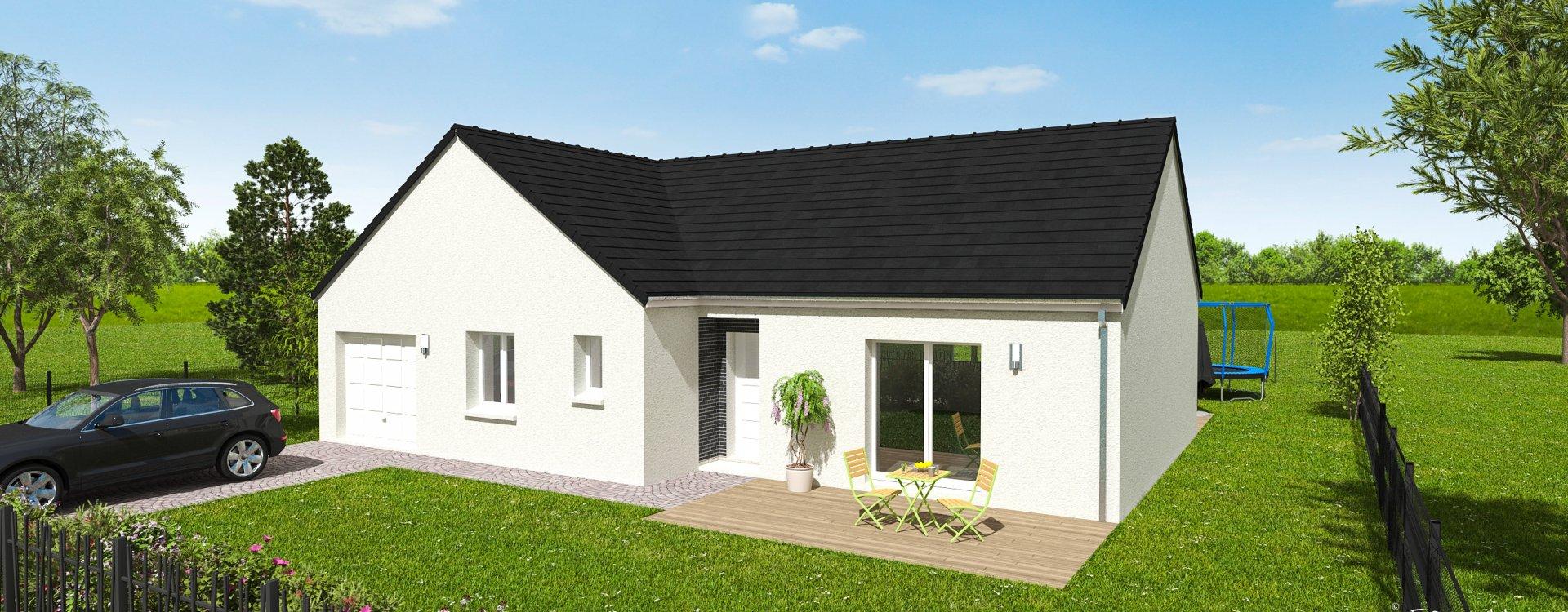 Maisons + Terrains du constructeur EASY HOUSE • 101 m² • GIDY