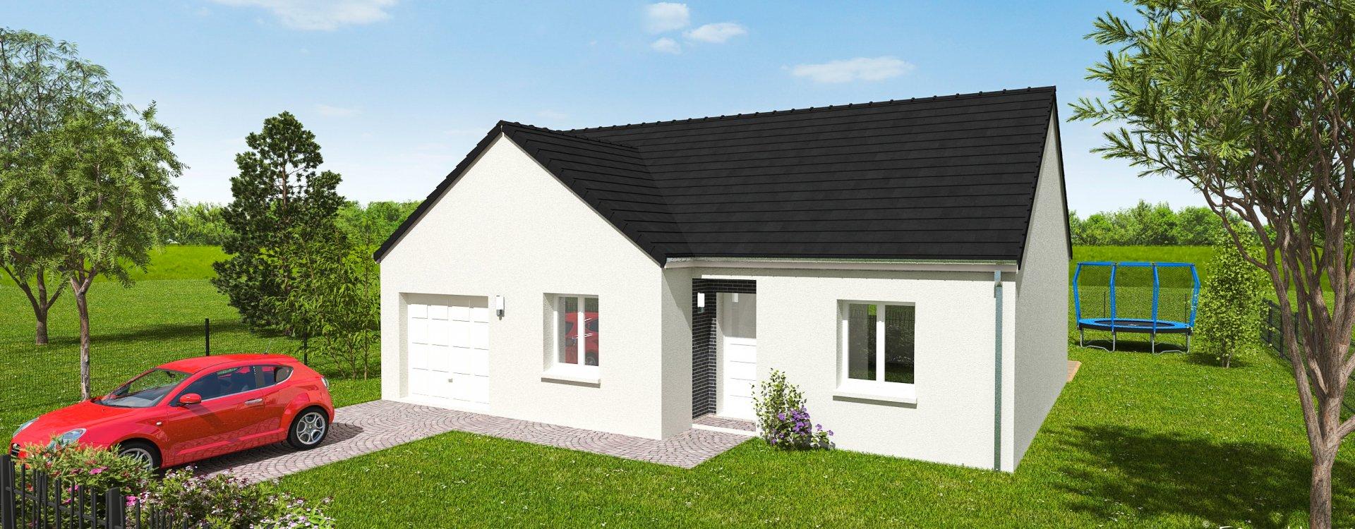 Maisons + Terrains du constructeur EASY HOUSE • 75 m² • FAY AUX LOGES