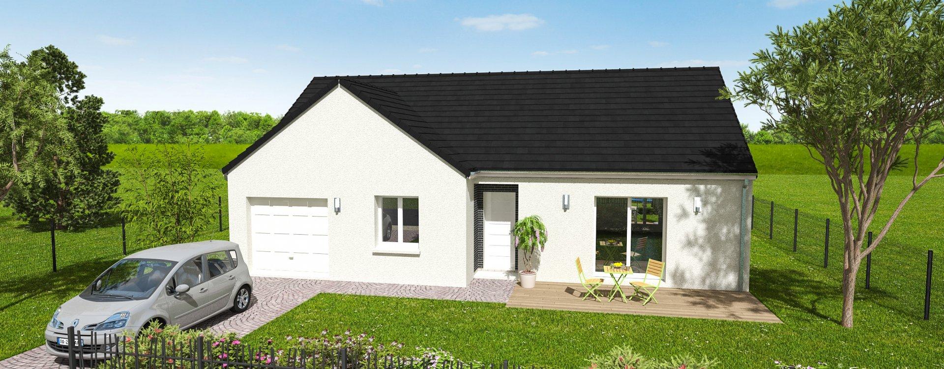 Maisons + Terrains du constructeur EASY HOUSE • 90 m² • HUISSEAU SUR MAUVES