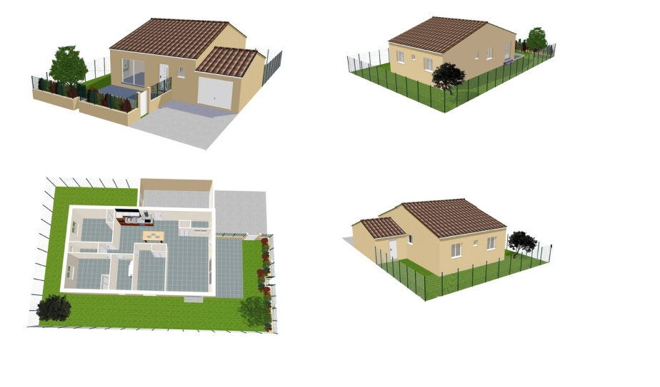 Maisons + Terrains du constructeur MA VILLA 34 - IMMO BAT • 80 m² • SERIGNAN