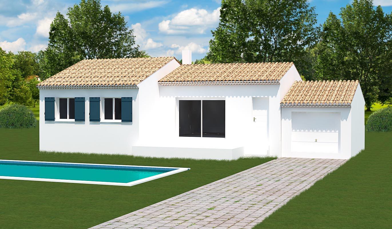 Maisons + Terrains du constructeur MAISONS MADDALENA • 80 m² • VALLABRIX