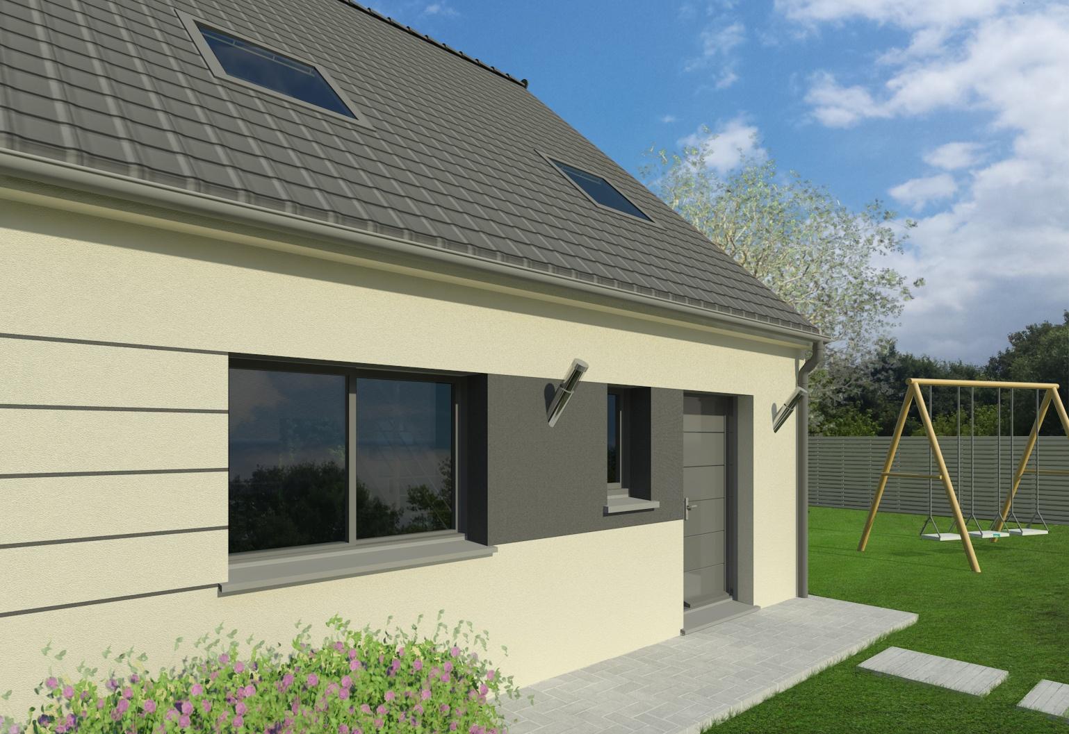 Maisons + Terrains du constructeur MAISON FAMILIALE COIGNIERES • 90 m² • BUCHELAY
