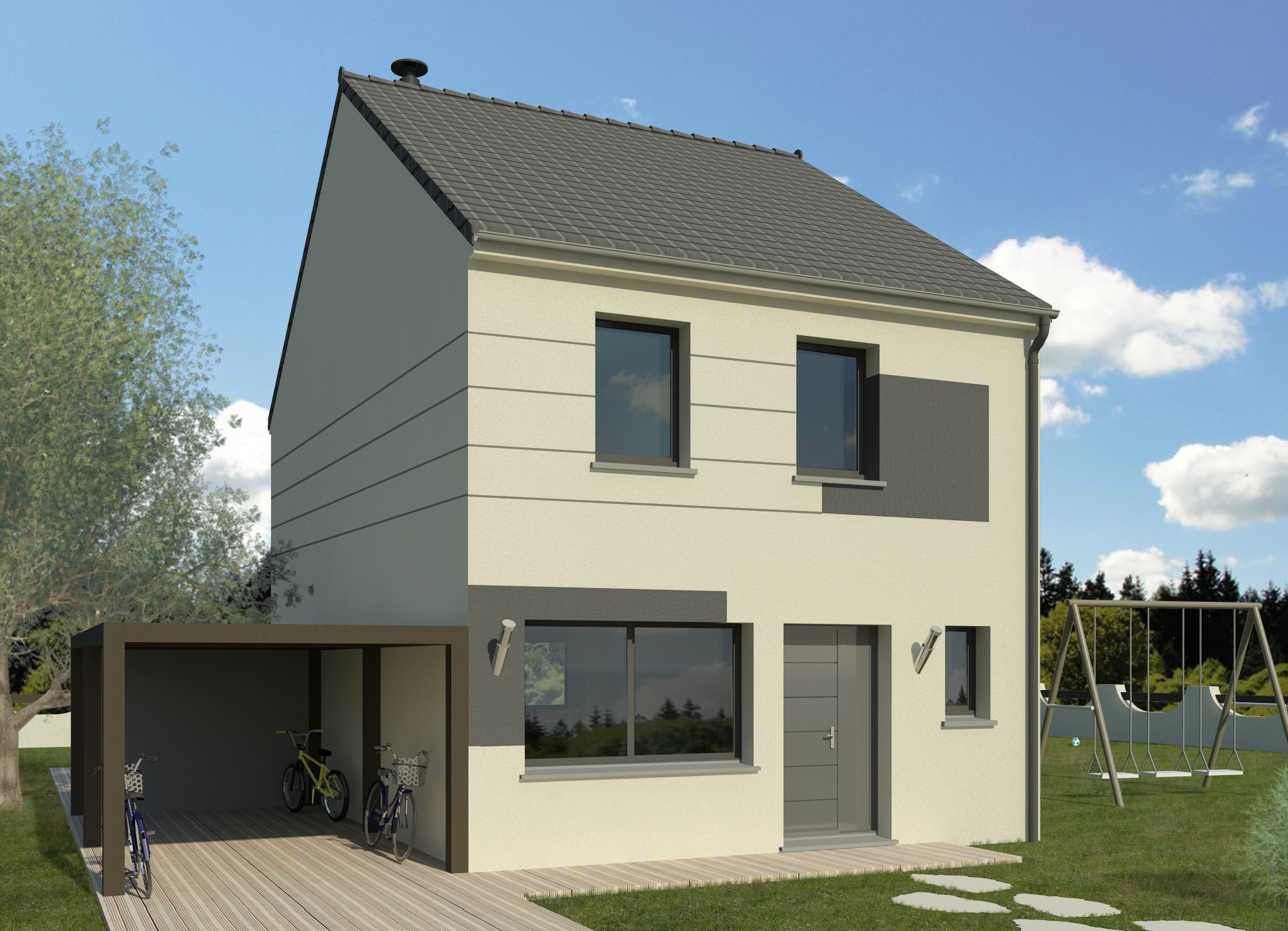 Maisons + Terrains du constructeur MAISON FAMILIALE COIGNIERES • 110 m² • ELANCOURT