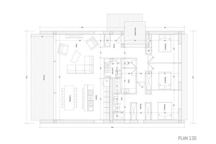 Maisons du constructeur KIRIGAMI CONSTRUCTION • 123 m² • CARCASSONNE