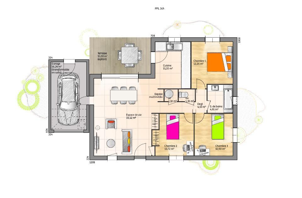 Maisons + Terrains du constructeur LMP CONSTRUCTEUR • 90 m² • LE BOUPERE