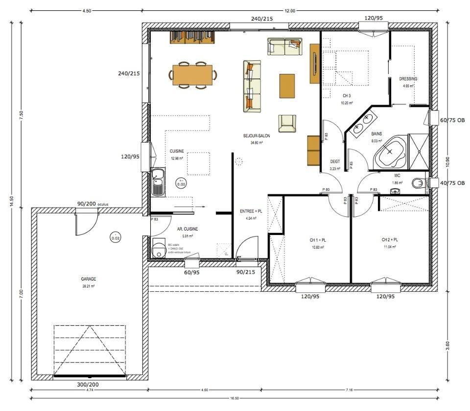 Maisons + Terrains du constructeur LMP CONSTRUCTEUR • 100 m² • SAINT MALO DU BOIS