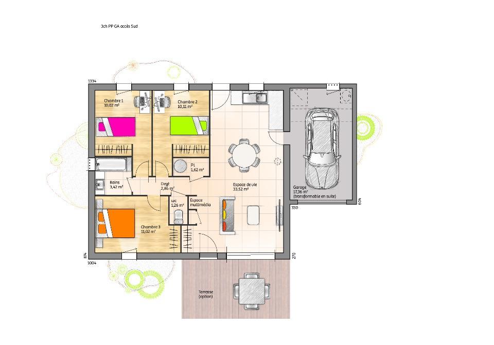 Maisons + Terrains du constructeur LMP CONSTRUCTEUR • 73 m² • SAINT PAUL EN PAREDS