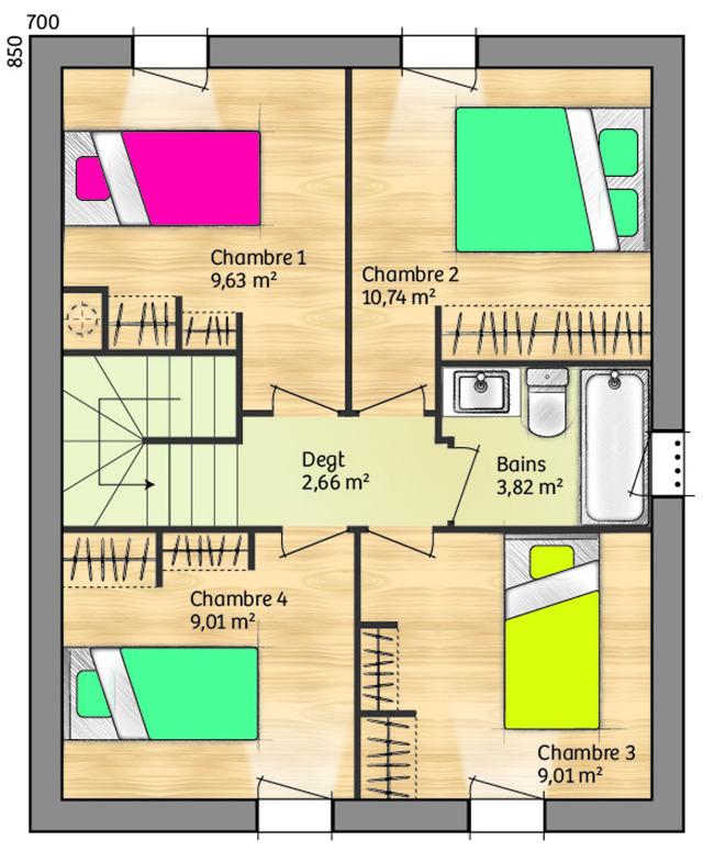 Maisons + Terrains du constructeur MAISONS BALENCY • 94 m² • GENERAC
