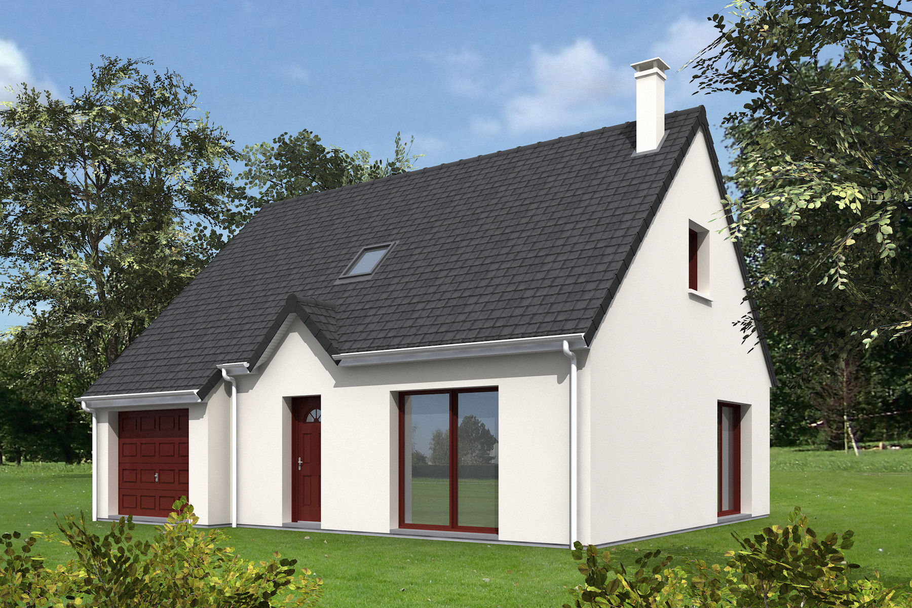 Maisons + Terrains du constructeur MAISONS MIMOSAS • 110 m² • MANTES LA JOLIE