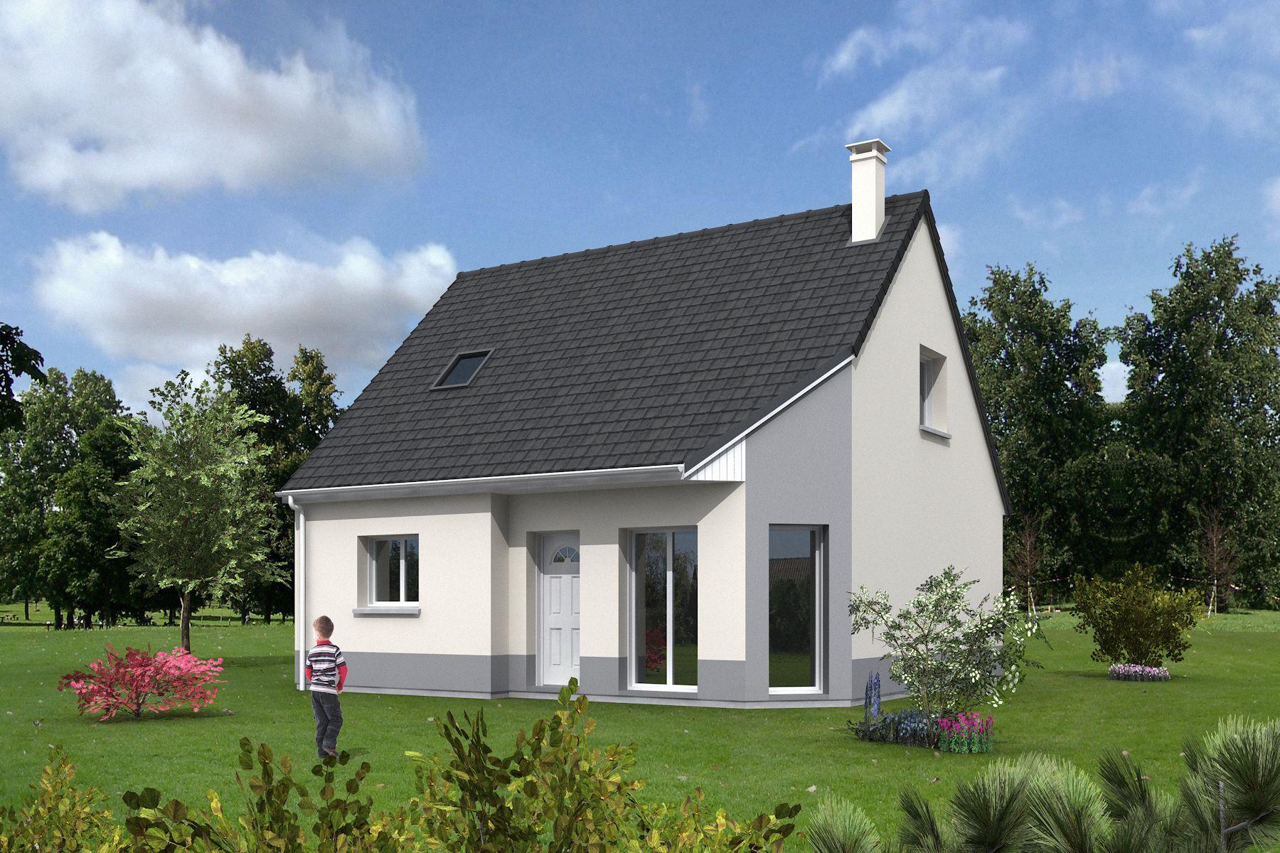 Maisons + Terrains du constructeur MAISONS MIMOSAS • 90 m² • BONNIERES SUR SEINE