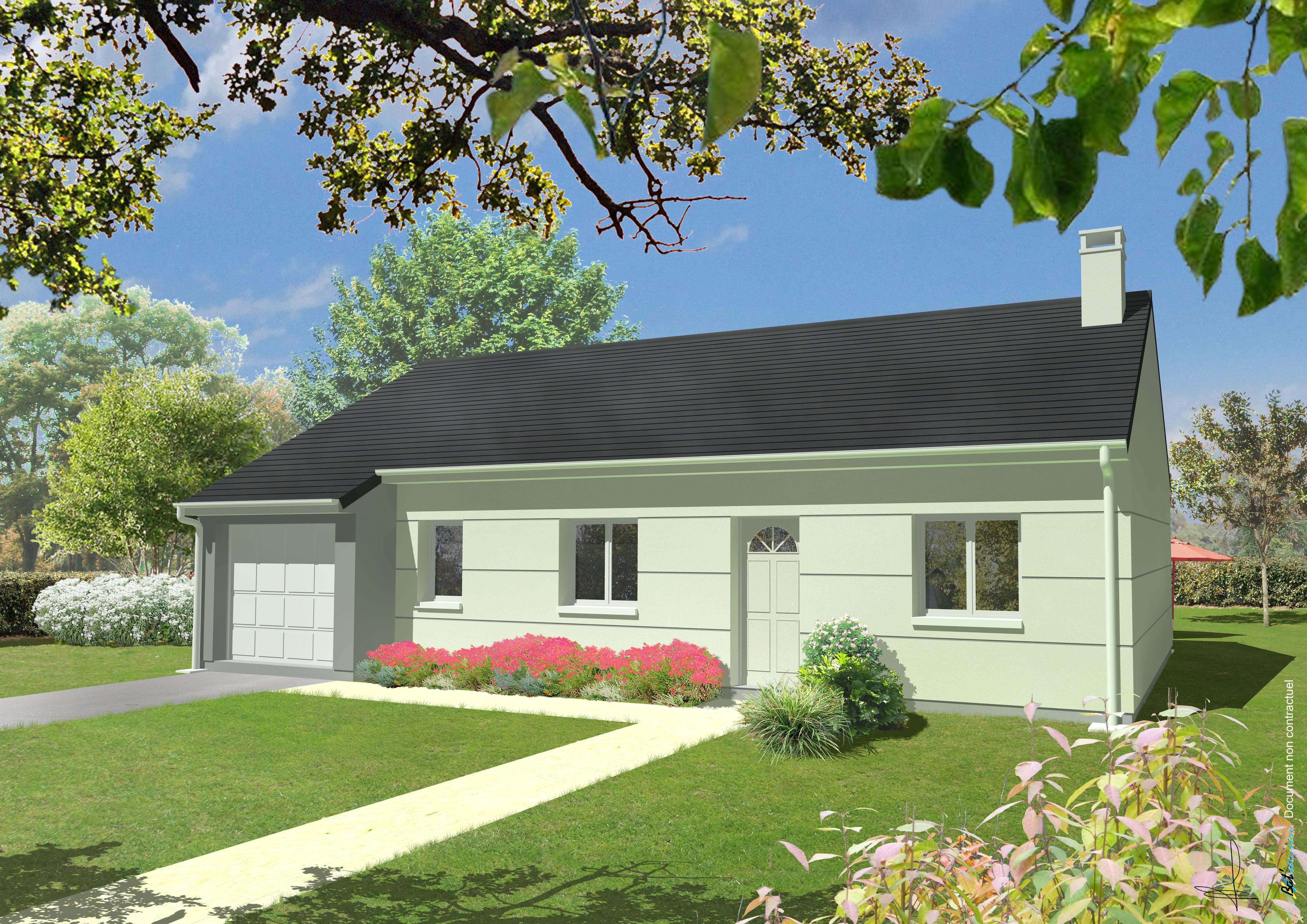 Maisons + Terrains du constructeur MAISONS MIMOSAS • 91 m² • L'AIGLE