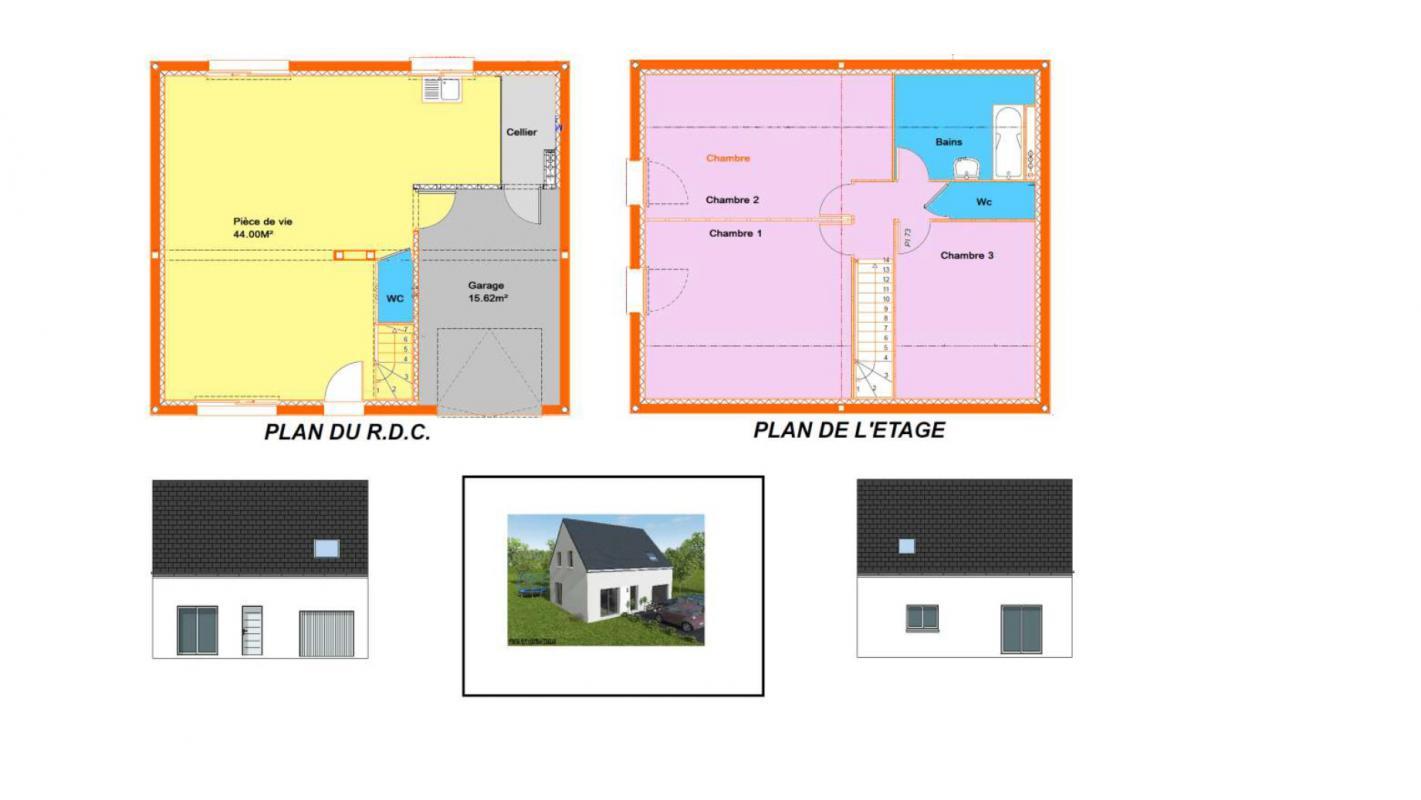 Maisons + Terrains du constructeur MAISONS AXCESS •  m² • CONDE SUR VIRE