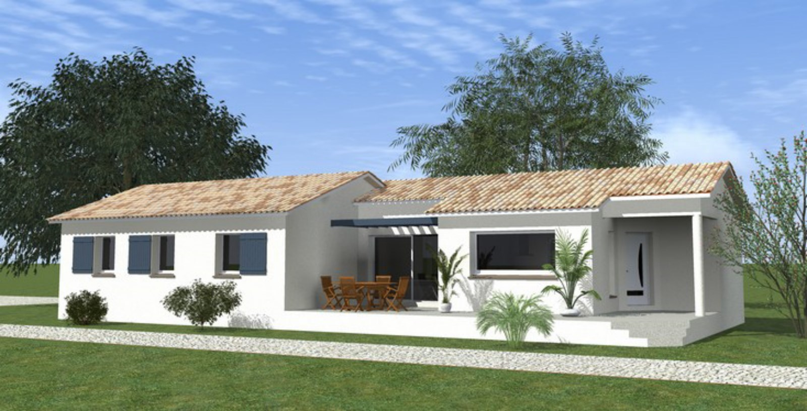 Maisons + Terrains du constructeur TRADIBATI CONSTRUCTIONS •  m² • BEAUREGARD BARET