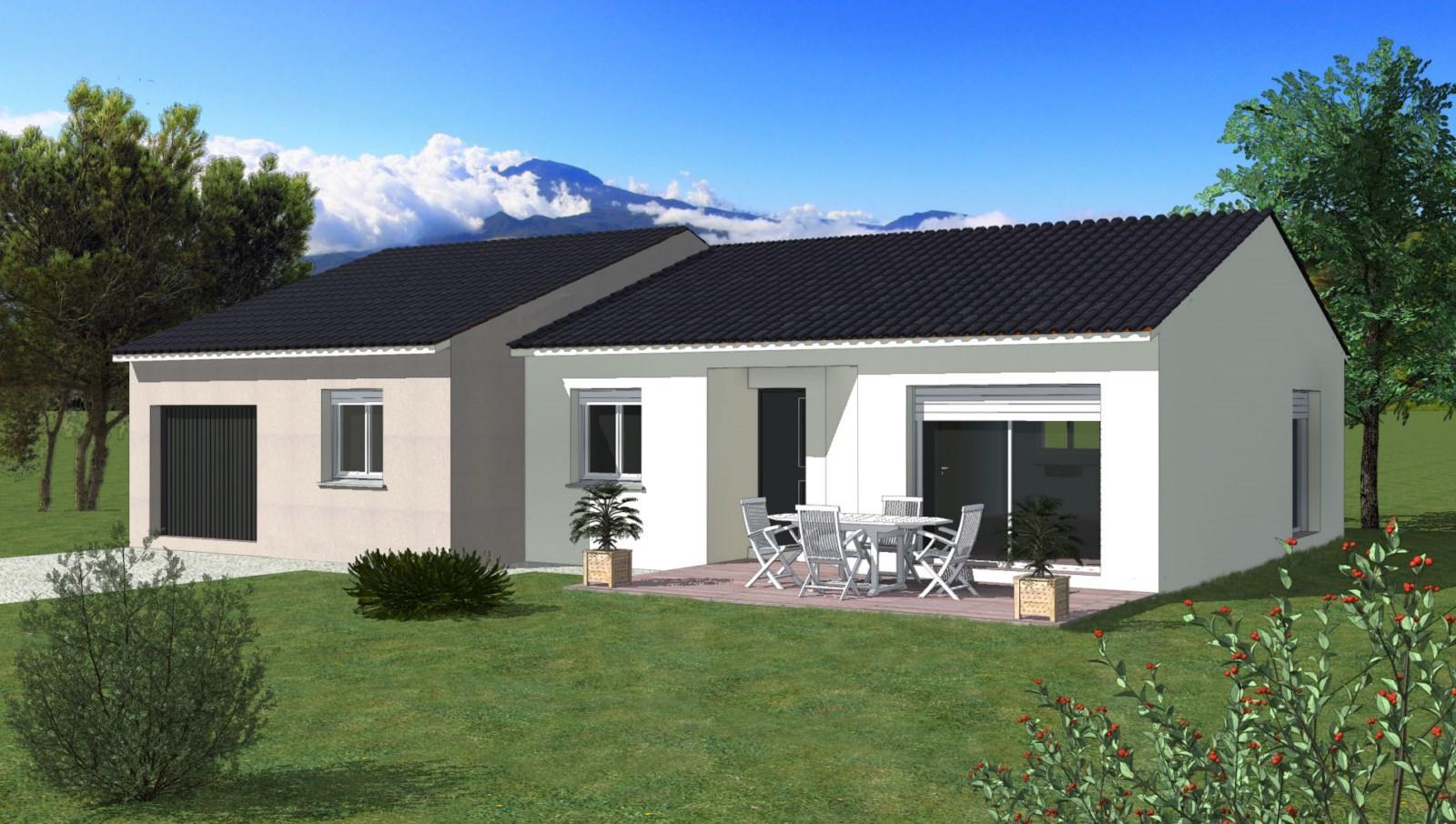 Maisons + Terrains du constructeur TRADIBATI CONSTRUCTIONS • 100 m² • LA ROCHE DE GLUN