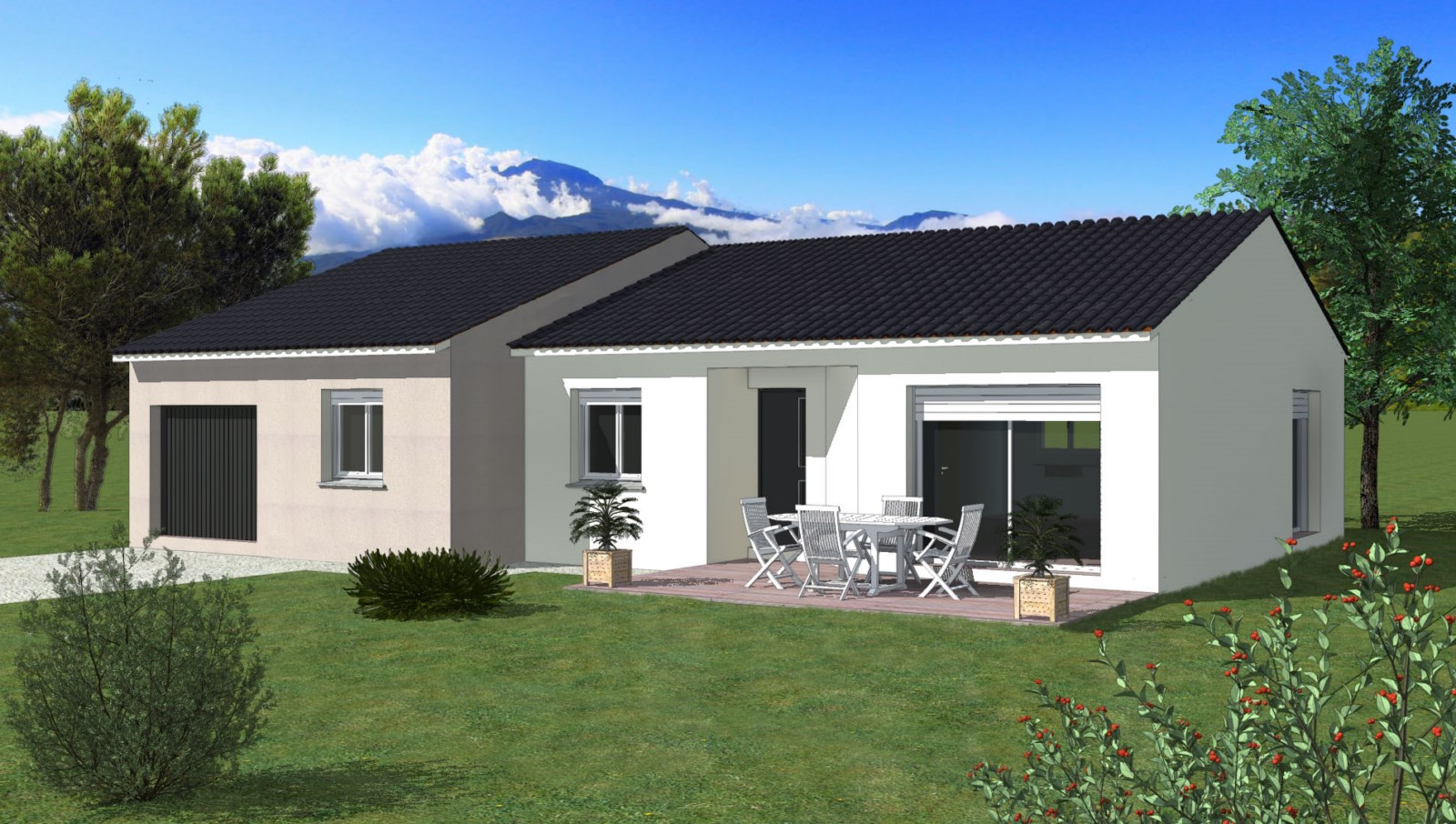 Maisons + Terrains du constructeur TRADIBATI CONSTRUCTIONS • 90 m² • LA BAUME D'HOSTUN