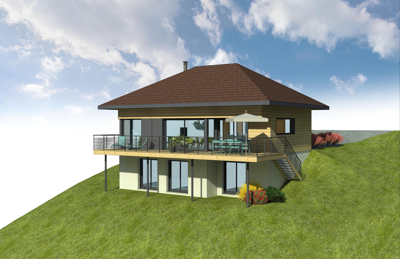 Maisons + Terrains du constructeur ITINERAIRES BOIS • 140 m² • DRUMETTAZ CLARAFOND