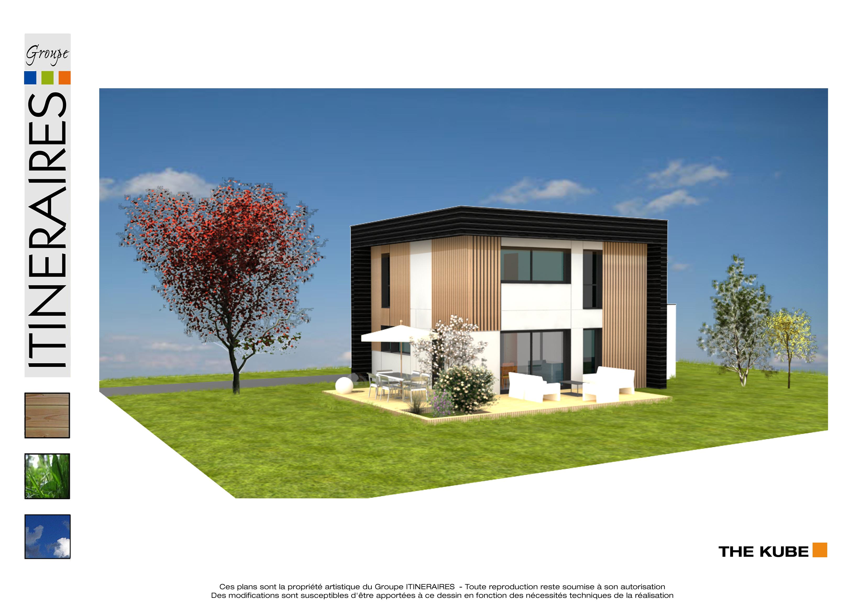 Maisons du constructeur ITINERAIRES BOIS • 99 m² • GRESY SUR AIX