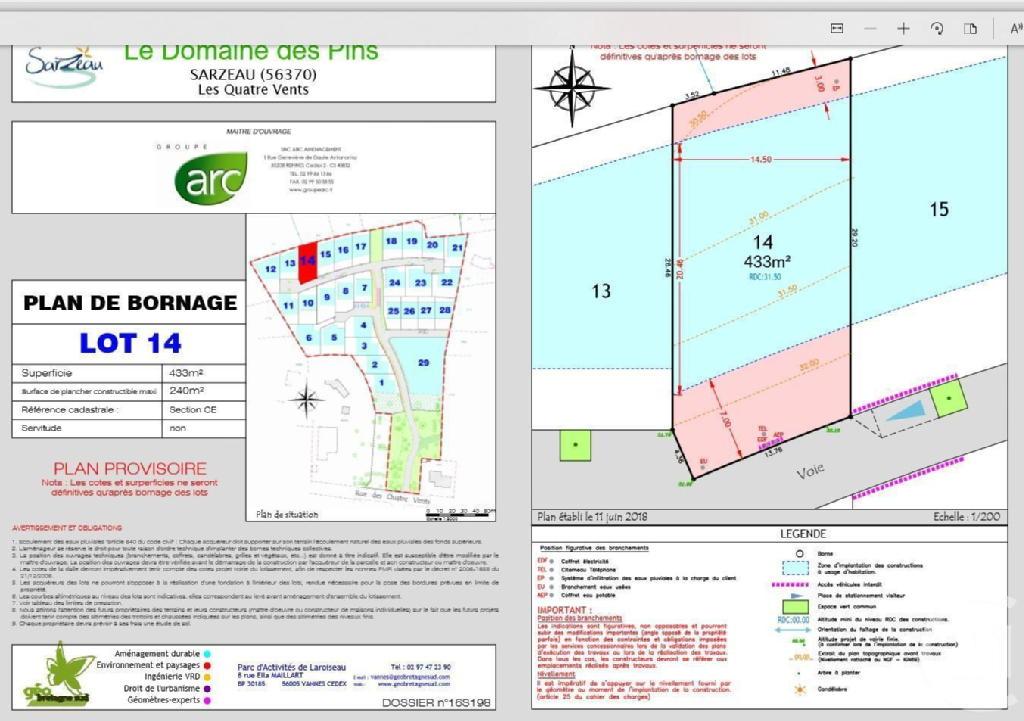 Terrains du constructeur C21 JEGO IMMO SARZEAU • 433 m² • SARZEAU