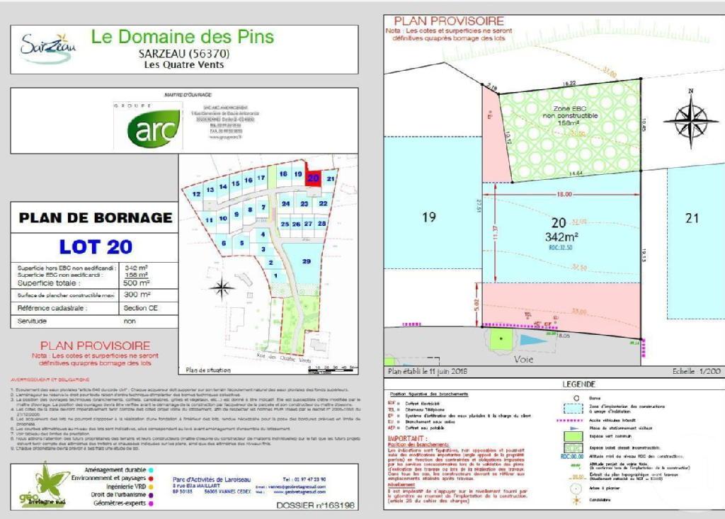 Terrains du constructeur C21 JEGO IMMO SARZEAU • 500 m² • SARZEAU