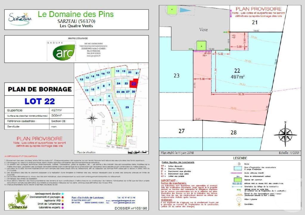 Terrains du constructeur C21 JEGO IMMO SARZEAU • 497 m² • SARZEAU