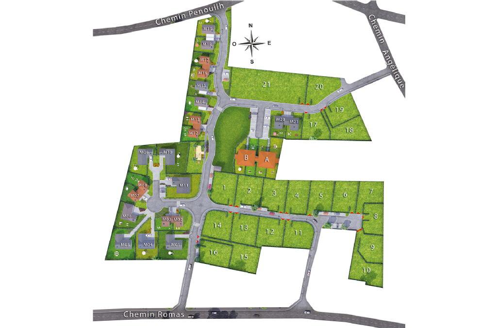 Terrains du constructeur EUROPEAN HOMES FRANCE • 665 m² • MONTARDON