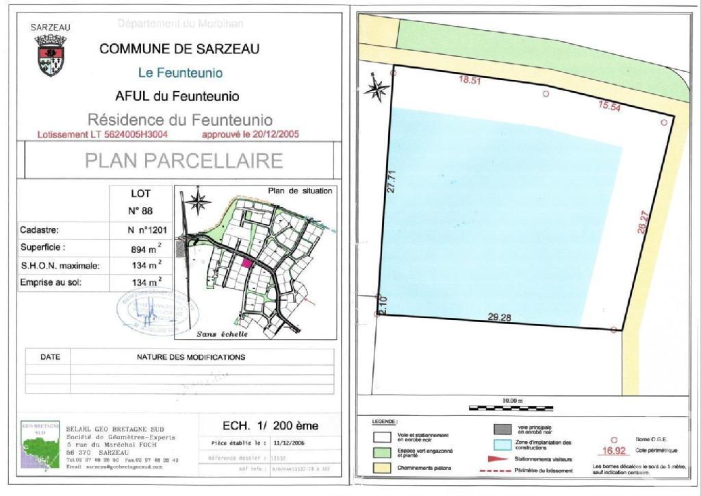 Terrains du constructeur C21 JEGO IMMO SARZEAU • 897 m² • SARZEAU