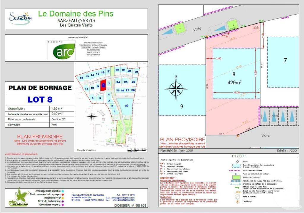 Terrains du constructeur C21 JEGO IMMO SARZEAU • 429 m² • SARZEAU