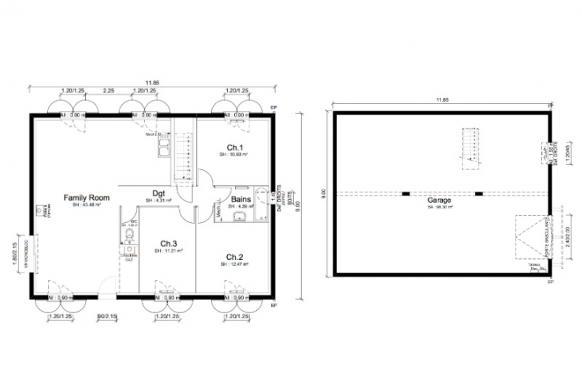 Maison+Terrain à vendre .(92 m²)(LA CHAPELLE DE LA TOUR) avec (MAISONS PUNCH BOURGOIN)