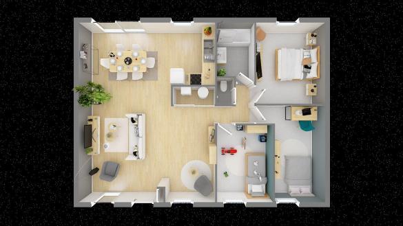 Maison+Terrain à vendre .(89 m²)(BEZINGHEM) avec (MAISONS PHENIX)