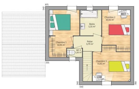 Maison+Terrain à vendre .(90 m²)(AVON) avec (MAISONS BALENCY)