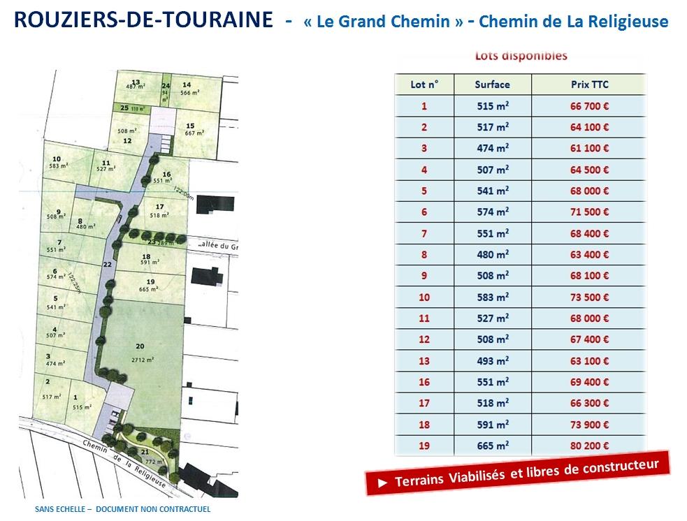 Terrains du constructeur VAL TOURAINE HABITAT • 515 m² • ROUZIERS DE TOURAINE