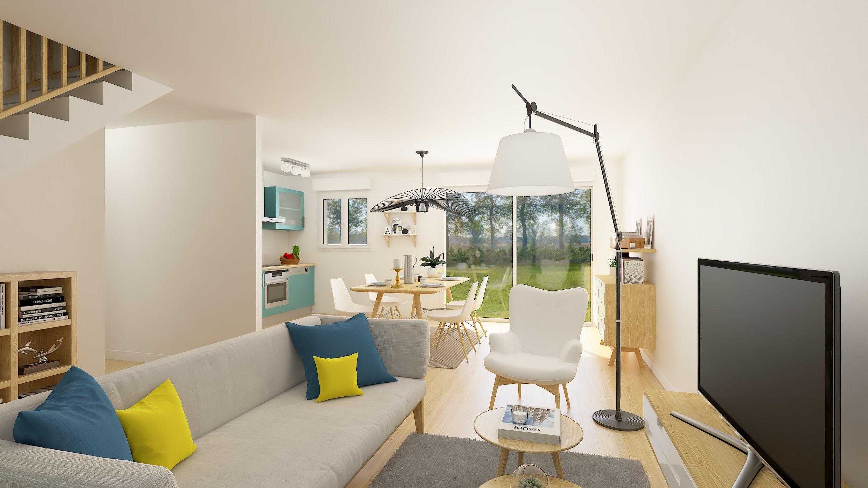 Maisons + Terrains du constructeur RESIDENCES PICARDES • 79 m² • OISEMONT