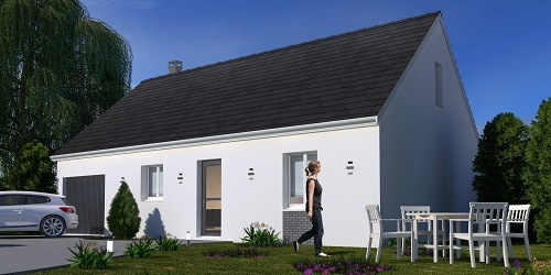 Maisons + Terrains du constructeur RESIDENCES PICARDES • 77 m² • NEUVILLE COPPEGUEULE