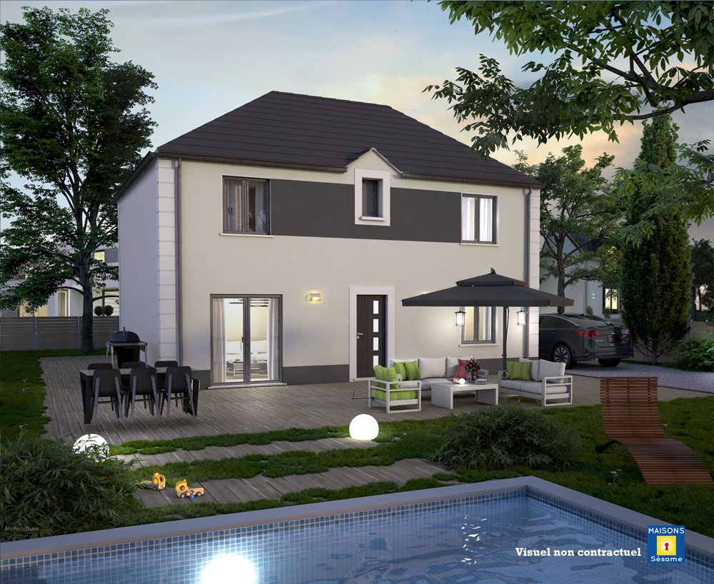 Maisons + Terrains du constructeur COFIDIM MAISONS SESAME • 90 m² • ERAGNY-SUR-OISE